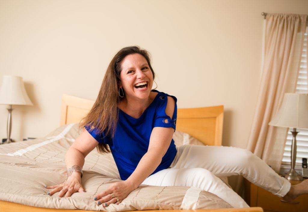 jumping on bed laughing nina real talk coaching