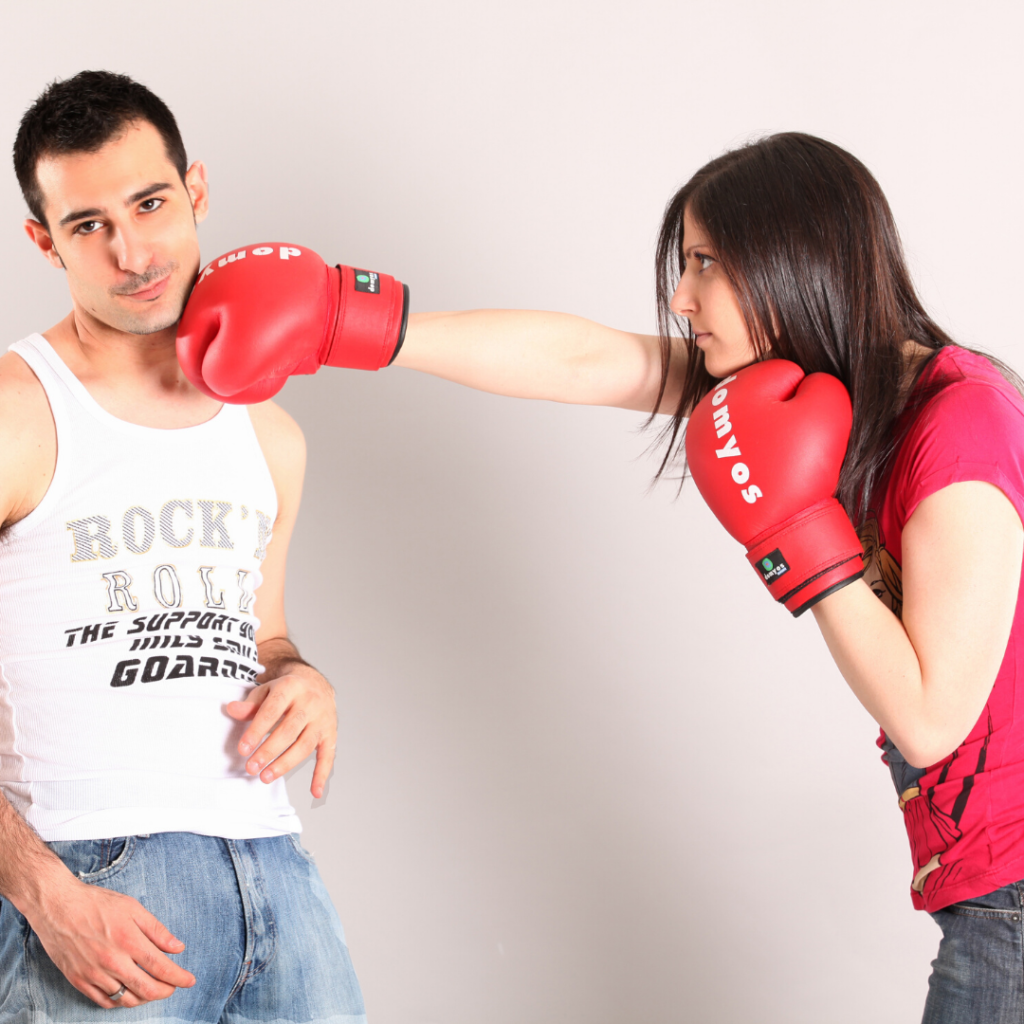fighting couple angry marriage